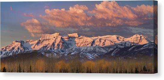 Sunrise On Timpanogos Canvas Print