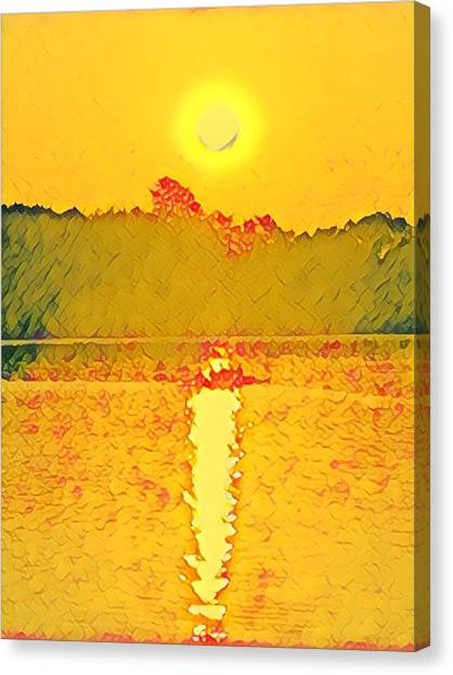Sunrise On Town Lake Canvas Print