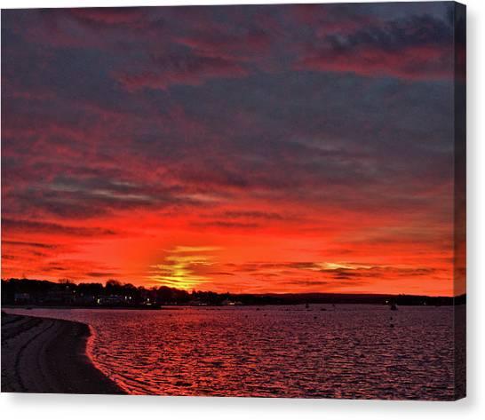 Sunrise Onset Pier Canvas Print