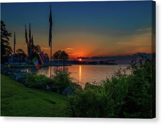 Sunrise On The Neuse 3 Canvas Print