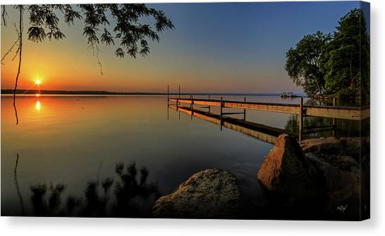 Sunrises Canvas Print - Sunrise Over Cayuga Lake by Everet Regal