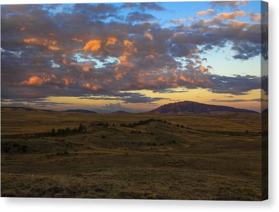 Sunrise Over Elk Mountain Canvas Print