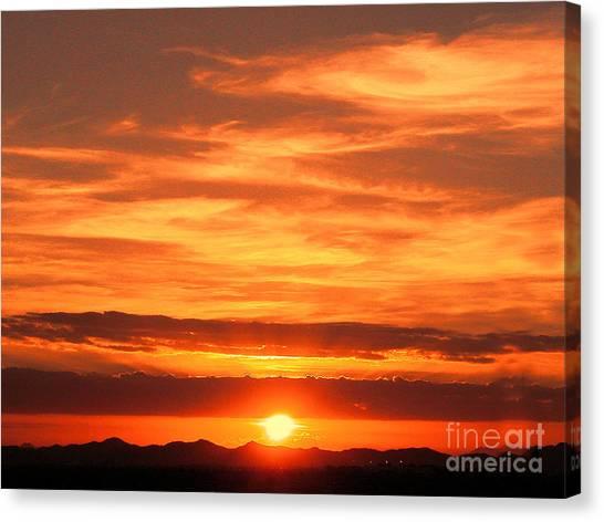 Sunrise Over Jeddah Canvas Print by Graham Taylor