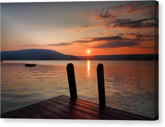 Sunrise Over Keuka IIi Canvas Print