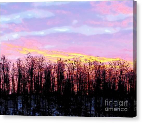 Sunrise Over Lake Canvas Print