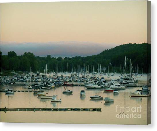 Sunrise Over Mallets Bay Variations - Three Canvas Print