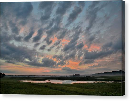 Prairie Sunrises Canvas Print - Sunrise Over Mchenry County by Ray Mathis