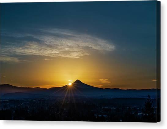 Sunrise Over Mt. Hood Canvas Print