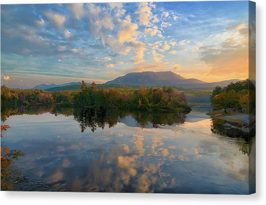 Sunrise Over Mt. Katahdin Canvas Print