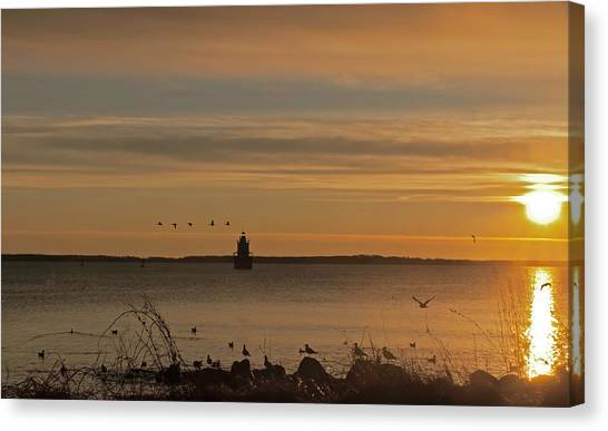Sunrise Over New Bedford Canvas Print