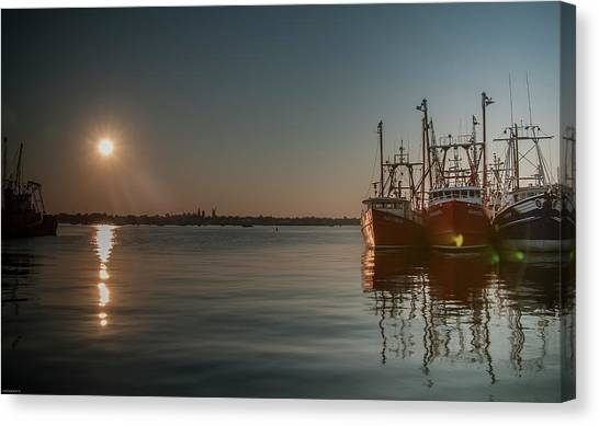 Sunrise Over New Bedford, Canvas Print