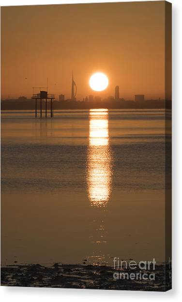 Sunrise Over Portsmouth Canvas Print