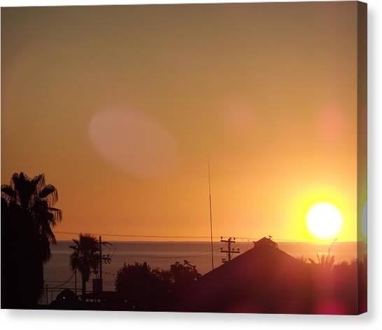 Sunrise Over Sea Of Cortez Canvas Print by Staci Black