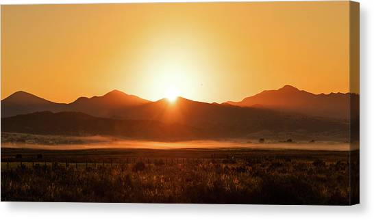 Sun Belt Canvas Print - Sunrise Over Sleeping Giant by Todd Klassy