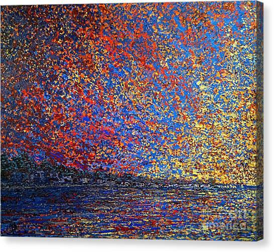 Sunrise Over St Andrews Nb Canvas Print