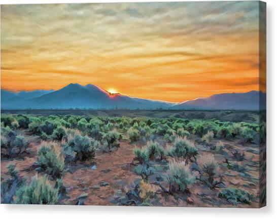 Sunrise Over Taos Canvas Print