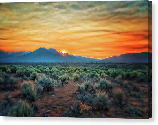 Sunrise Over Taos II Canvas Print