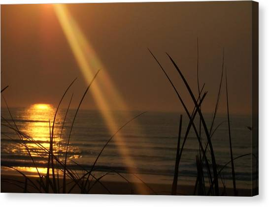Sunrise Over The Atlantic Canvas Print by James and Vickie Rankin
