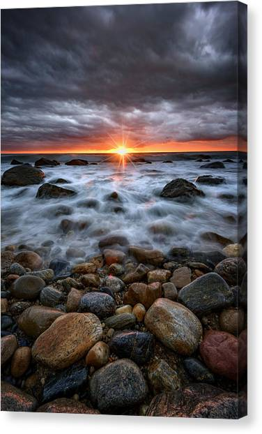 Montauk Canvas Print - Sunrise Over The East End by Rick Berk