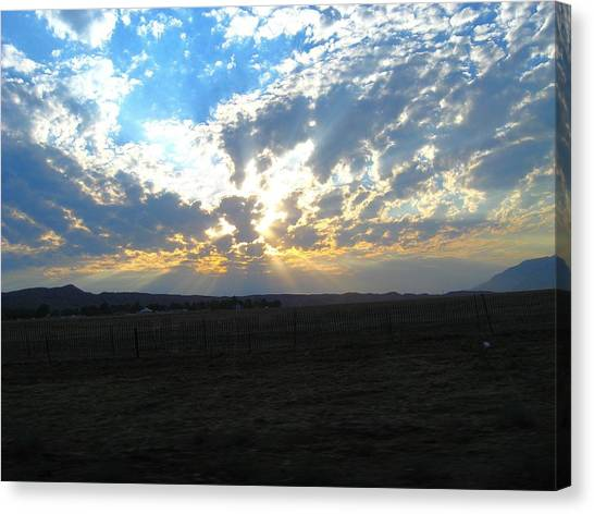 Sunrise Over The Pass Canvas Print by Mitch Hino