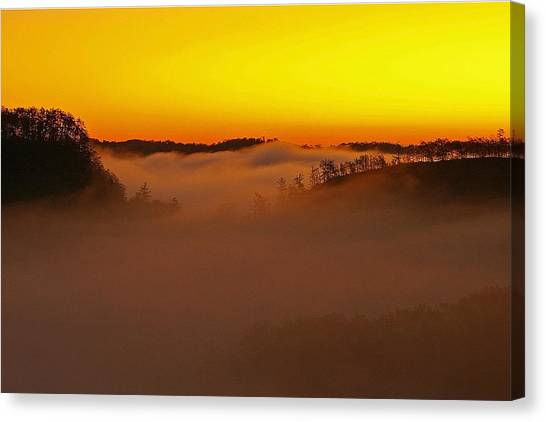 Sunrise Over The Red River Gorge. Canvas Print