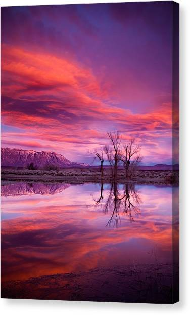 Bishops Canvas Print - Sunrise Over The Tablelands by Dan Holmes