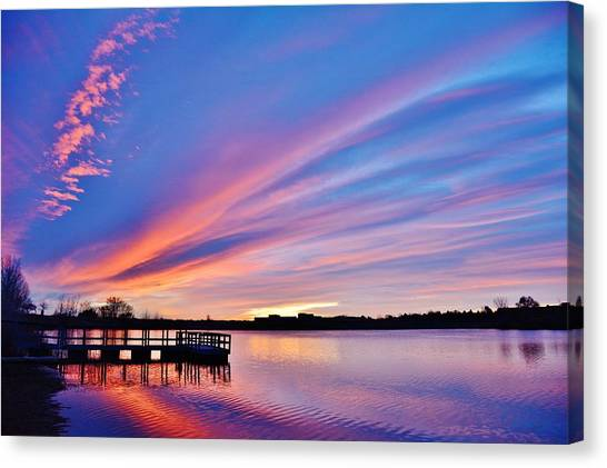 Sunrise Reflecting Canvas Print