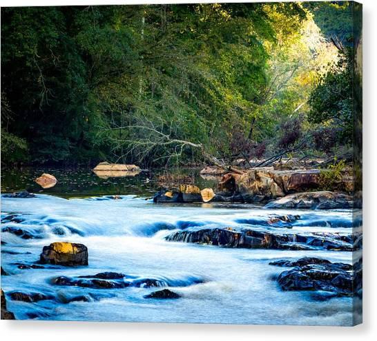 Sunrise River Canvas Print