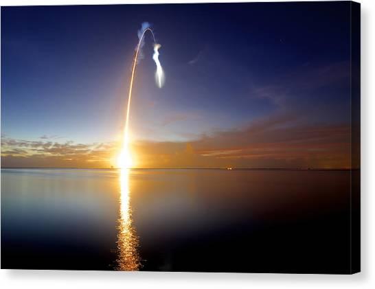 Sunrise Rocket Canvas Print