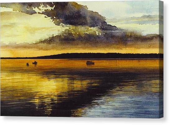 Sunrise Rockland Harbor Canvas Print
