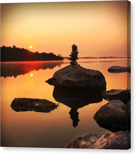 Nova Scotia Canvas Print - Sunrise Silhouette by Christine Sharp