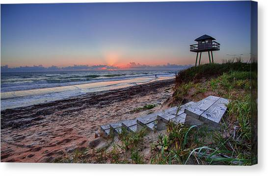 Sunrise Stairs Canvas Print
