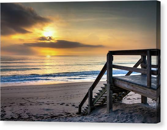 Sunrise Stairway Canvas Print
