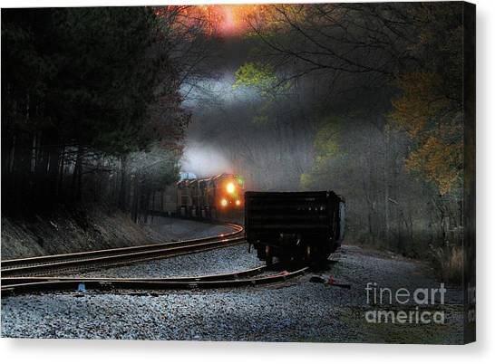 Sunrise Steel Canvas Print