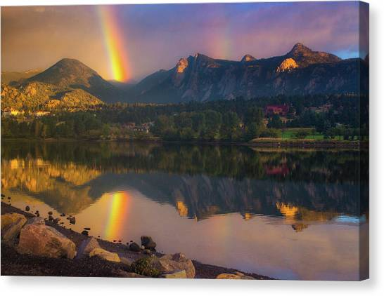Sunrise Summer Rainbow In Colorado Canvas Print
