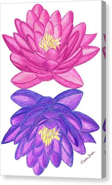 Sunrise Sunset Lotus Canvas Print