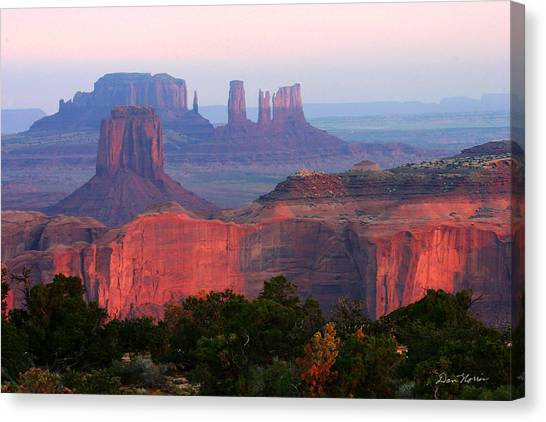 Sunrise Telephoto From Hunt's Mesa Canvas Print