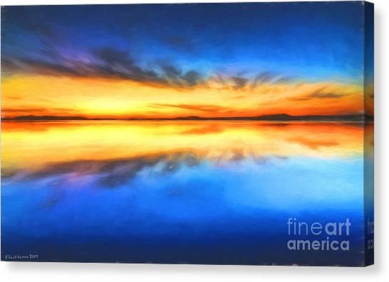 Painterly Canvas Print - Sunrise by Veikko Suikkanen