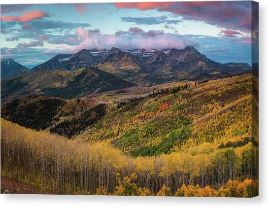 Sunrise View Of Mount Timpanogos Canvas Print