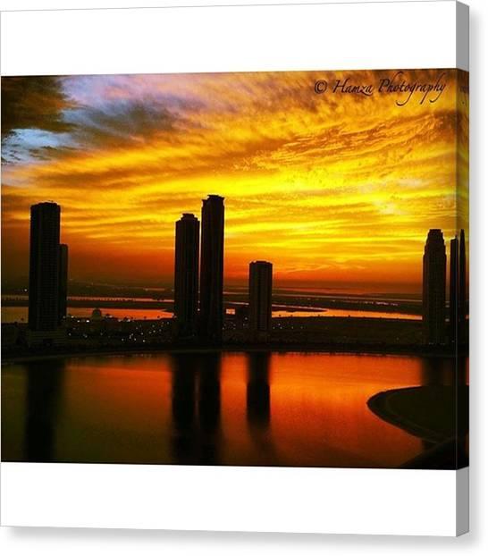 Ocean Sunrises Canvas Print - Beautiful Sunset by Hamza Kamran