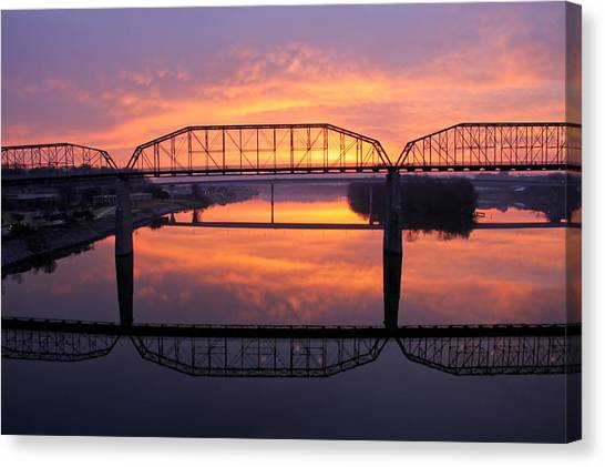 Sunrise Walnut Street Bridge 2 Canvas Print