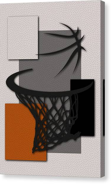Phoenix Suns Canvas Print - Suns Hoop by Joe Hamilton
