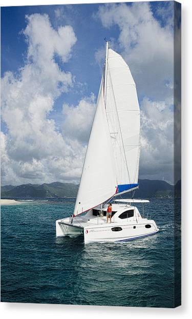 Sunsail Catamaran Canvas Print