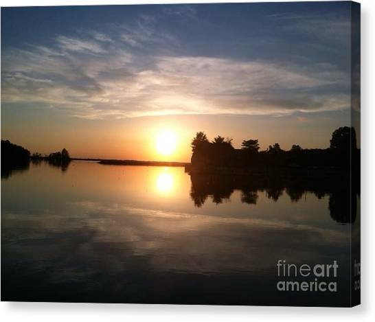Sunset @ Rend Lake Canvas Print