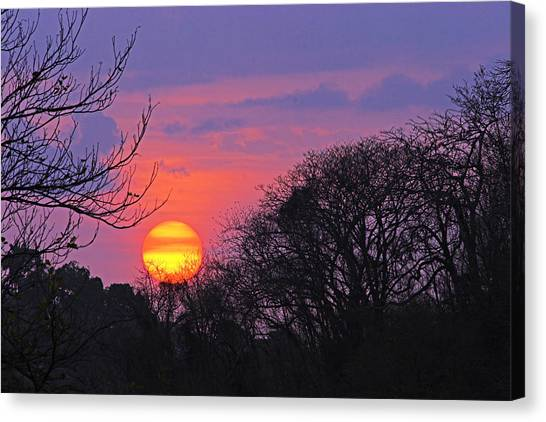 Sunset 1-st Lucia Canvas Print