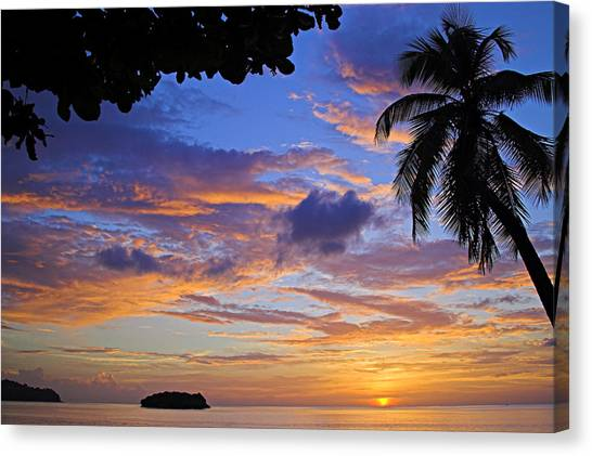 Sunset 2-st Lucia Canvas Print