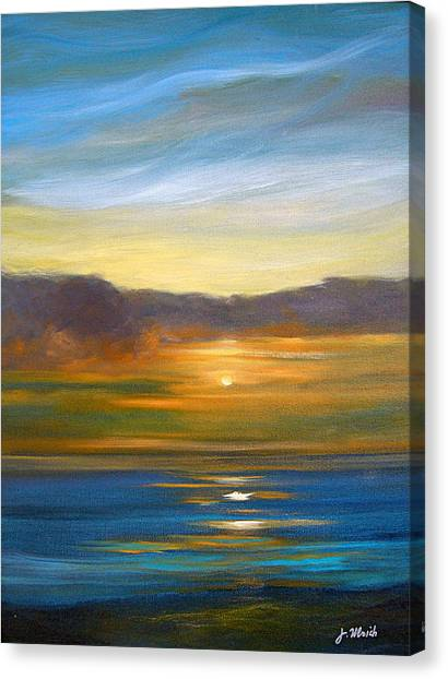 Sunset 9 Canvas Print by Jeannette Ulrich