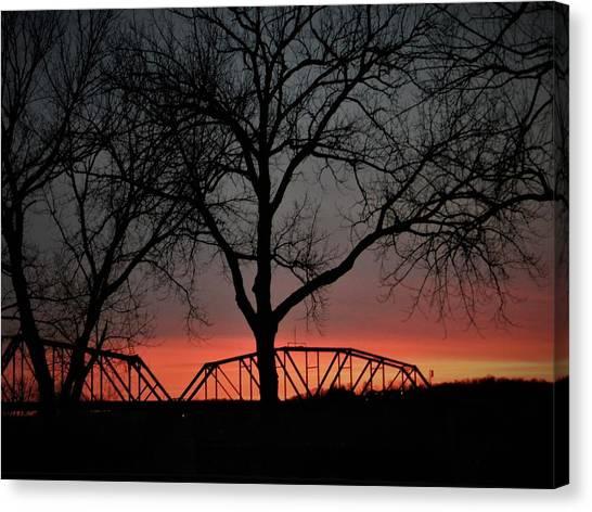 Sunset Across The Cumberland Canvas Print