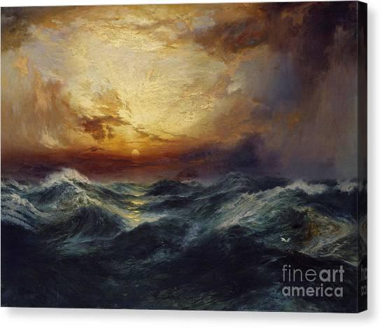 Moran Canvas Print - Sunset After A Storm by Thomas Moran