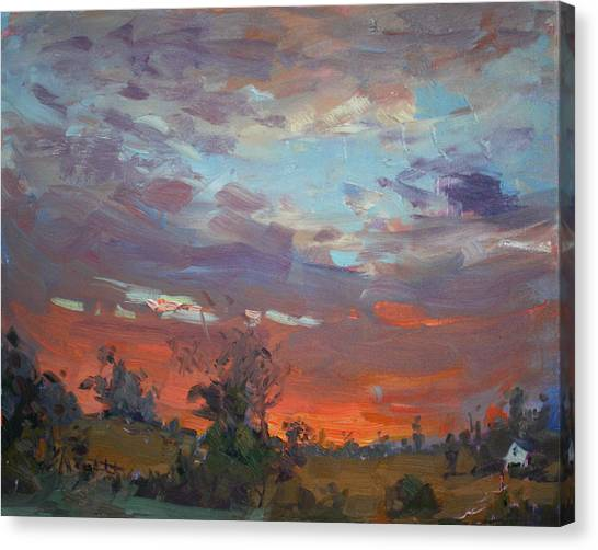 Georgetown University Canvas Print - Sunset After Thunderstorm by Ylli Haruni